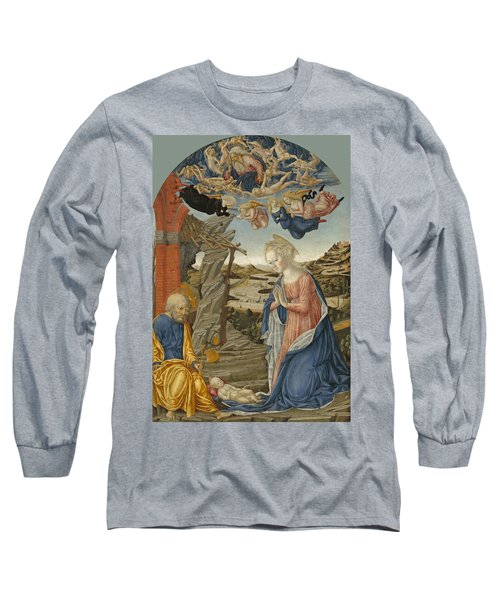 The Nativity With God The Father Surrounded By Angels And Cherubim Long Sleeve T-Shirt