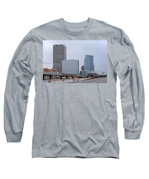 Long Sleeve T-Shirt featuring the photograph The New Milwaukee Skyline by Randy Scherkenbach