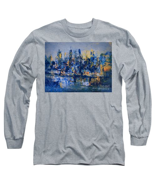 The Night City Long Sleeve T-Shirt by Nancy Kane Chapman