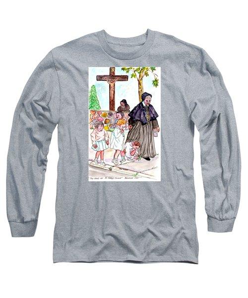 The Nuns Of St Mary's Church Long Sleeve T-Shirt by Philip Bracco