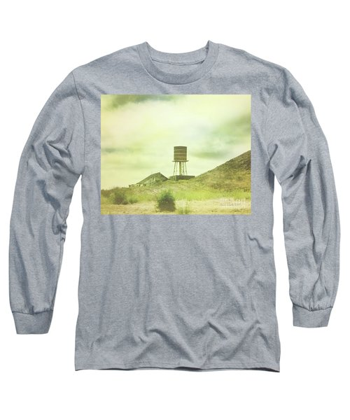 The Old Barn And Water Tower In Vintage Style San Luis Obispo California Long Sleeve T-Shirt