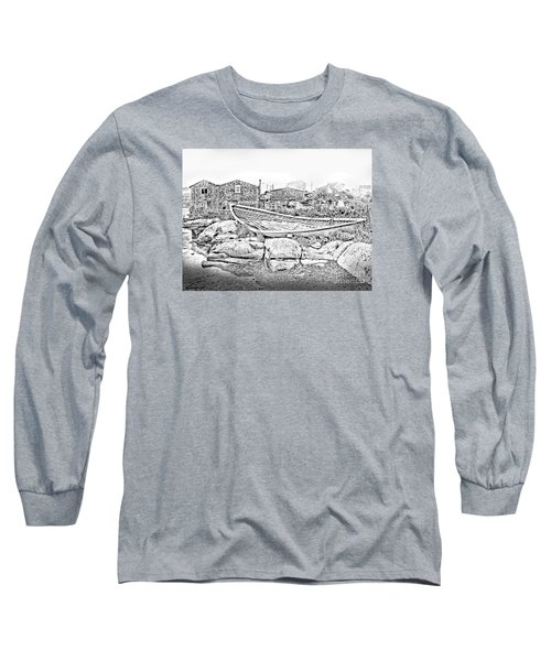 The Old Boat At Peggy's Cove Long Sleeve T-Shirt by Patricia L Davidson