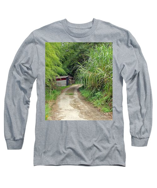The Old Forest Road Long Sleeve T-Shirt by Yali Shi