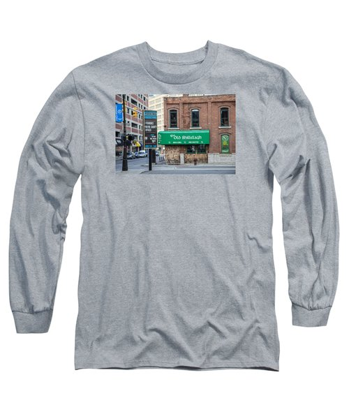 The Old Shillelagh Detroit  Long Sleeve T-Shirt by John McGraw