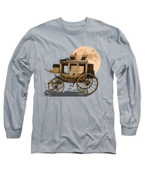 The Old Stage Coach Long Sleeve T-Shirt by John Haldane
