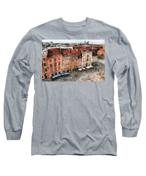 Old Town In Warsaw # 20 Long Sleeve T-Shirt