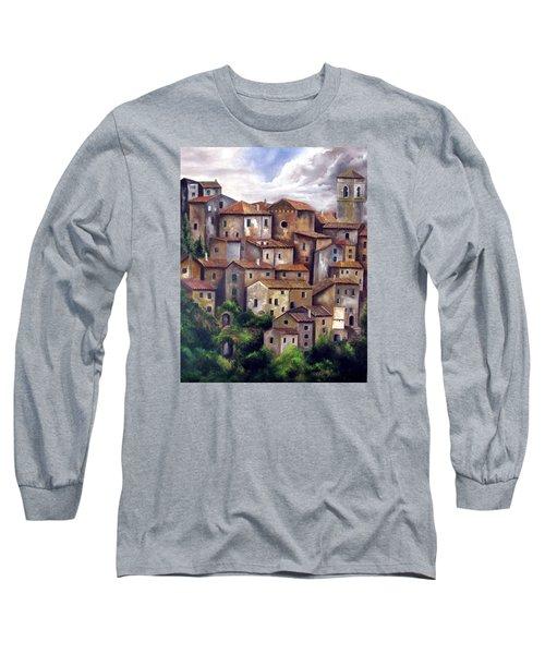 The Old Village Long Sleeve T-Shirt by Katia Aho