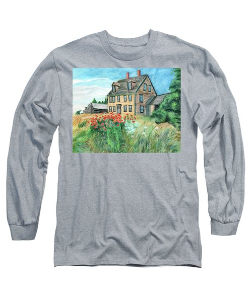 The Olson House With Poppies Long Sleeve T-Shirt