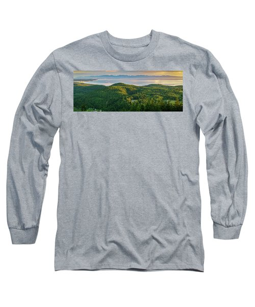 The Olympics From Mt Erie Long Sleeve T-Shirt by Ken Stanback