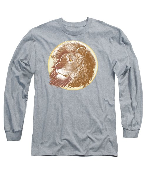 Long Sleeve T-Shirt featuring the mixed media The One True King by J L Meadows