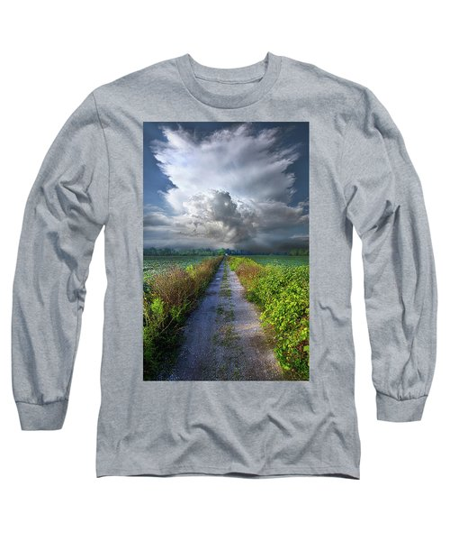 The Only Way In Long Sleeve T-Shirt by Phil Koch