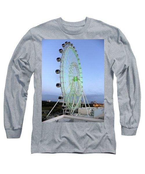Long Sleeve T-Shirt featuring the photograph The Orlando Eye 000 by Chris Mercer