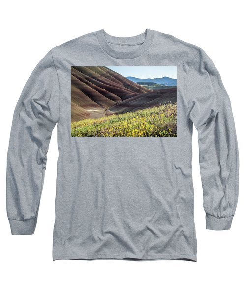 The Painted Hills In Bloom Long Sleeve T-Shirt
