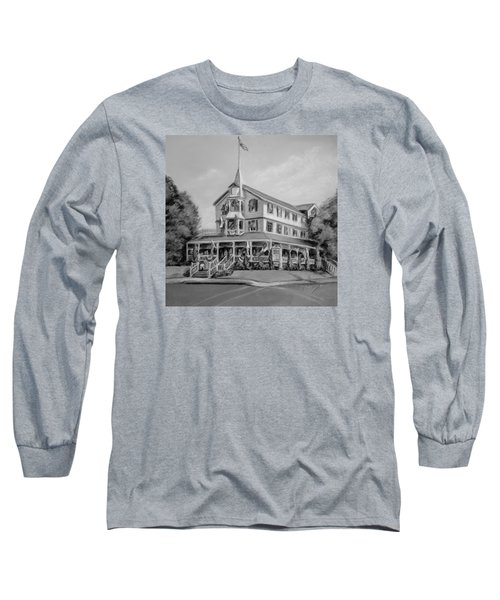 The Parker House Black And White Long Sleeve T-Shirt by Melinda Saminski