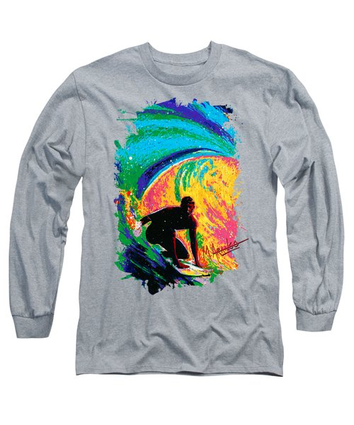 The Perfect Wave Long Sleeve T-Shirt by Maria Arango