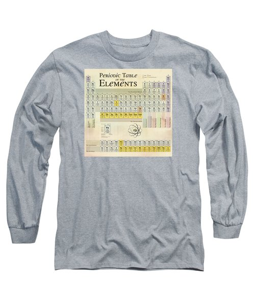 Long Sleeve T-Shirt featuring the digital art The Periodic Table Of The Elements by Gina Dsgn