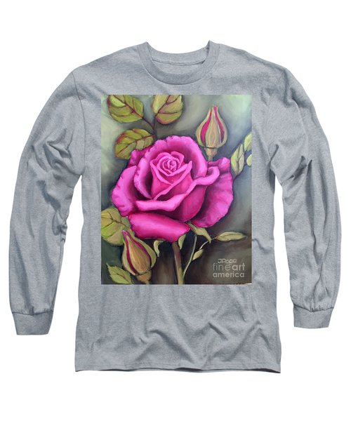 The Pink Rose Long Sleeve T-Shirt