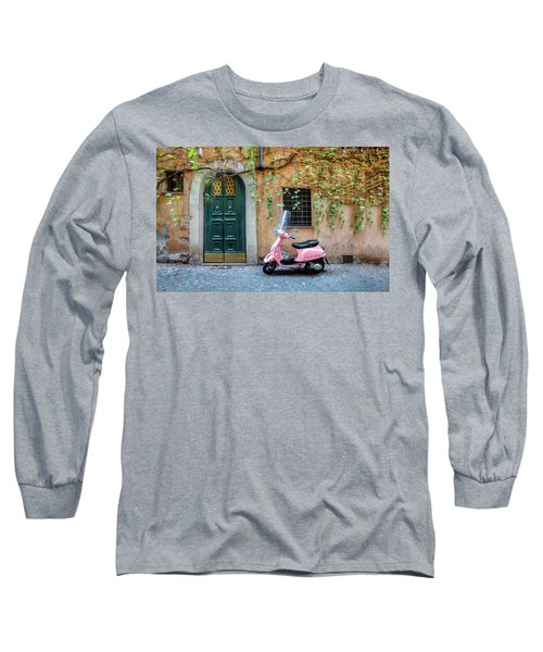 The Pink Vespa Long Sleeve T-Shirt