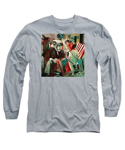 Long Sleeve T-Shirt featuring the painting The Portal by Helen Syron