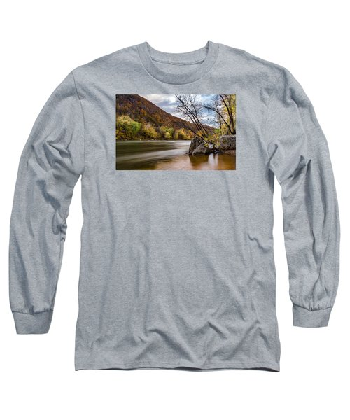 The Potomac In Autumn Long Sleeve T-Shirt by Ed Clark