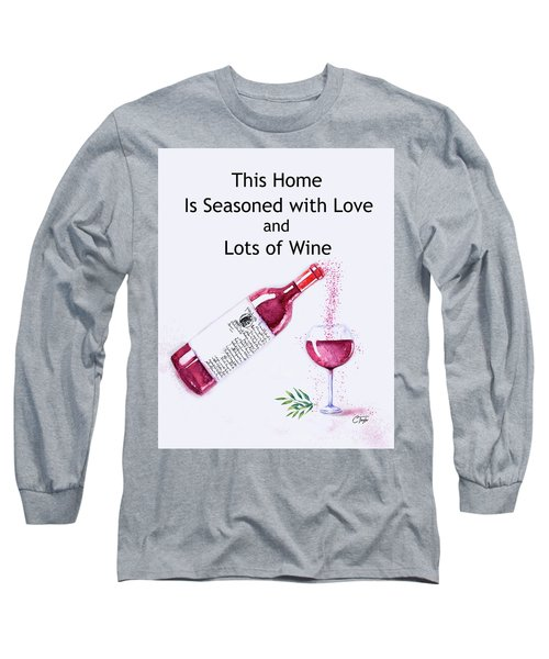 Long Sleeve T-Shirt featuring the mixed media The Pour by Colleen Taylor