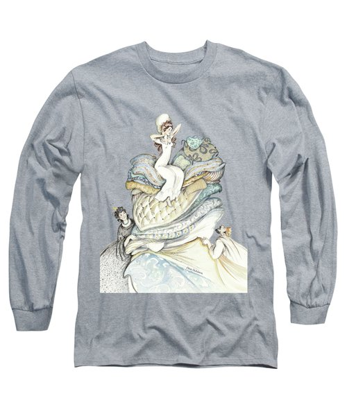 The Princess And The Pea, Illustration For Classic Fairy Tale Long Sleeve T-Shirt