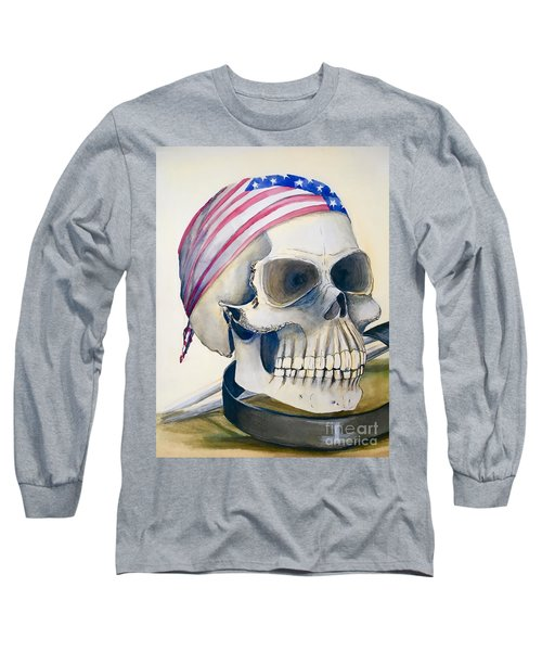 The Rider's Skull Long Sleeve T-Shirt