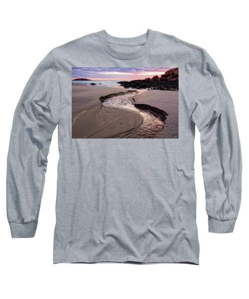Long Sleeve T-Shirt featuring the photograph The River Good Harbor Beach by Michael Hubley