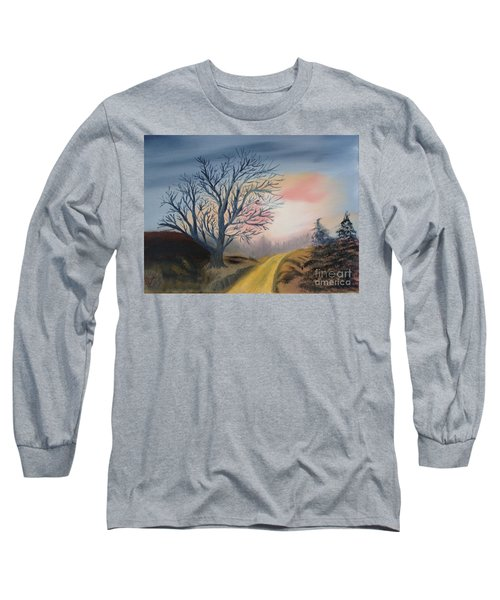 Long Sleeve T-Shirt featuring the painting The Road To... by Rod Jellison