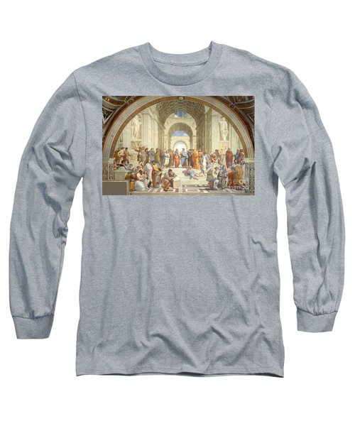 The School Of Athens, Raphael Long Sleeve T-Shirt