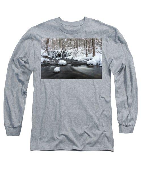The Secret Waterfall In Winter 2 Long Sleeve T-Shirt
