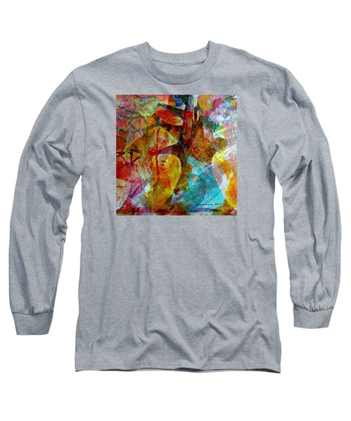 Long Sleeve T-Shirt featuring the painting The Seller by Fania Simon
