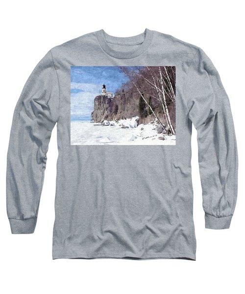 The Shoreline Lighthouse Long Sleeve T-Shirt by Maciek Froncisz