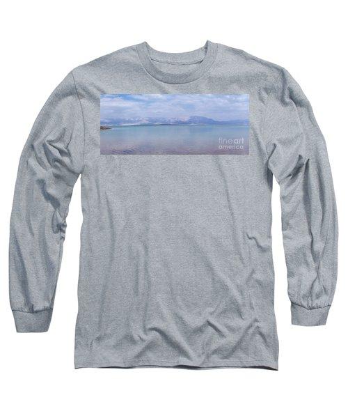 The Silence Of The Dead Sea Long Sleeve T-Shirt by Yoel Koskas