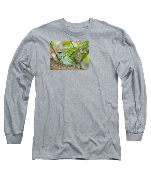 Long Sleeve T-Shirt featuring the photograph The Spotted Tanager by Judy Kay