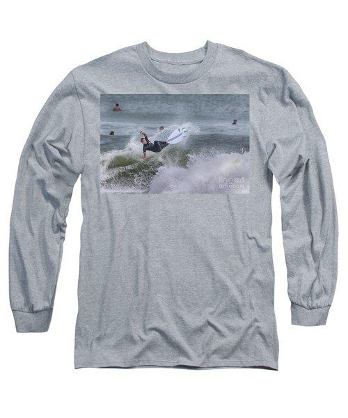 Long Sleeve T-Shirt featuring the photograph The Spray by Deborah Benoit
