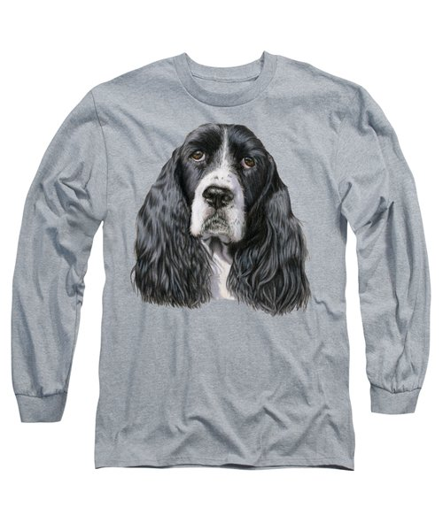 The Springer Spaniel Long Sleeve T-Shirt by Sarah Batalka