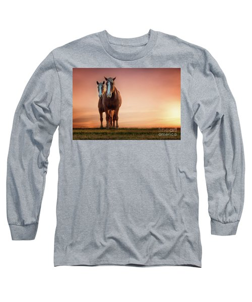 The Stallion And The Mare Long Sleeve T-Shirt by Tamyra Ayles