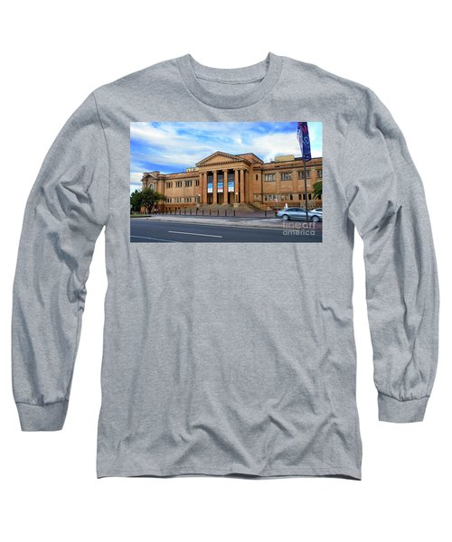 Long Sleeve T-Shirt featuring the photograph The State Library Of New South Wales By Kaye Menner by Kaye Menner