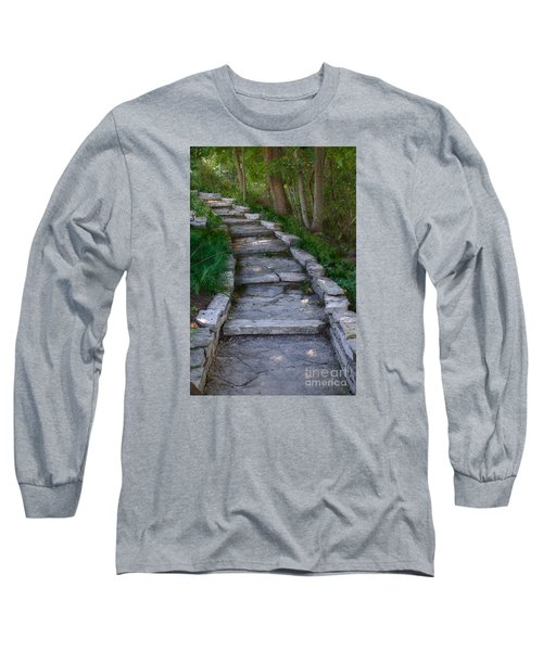 The Steps Long Sleeve T-Shirt by David Blank