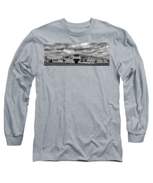 The Stone Pony Asbury Park New Jersey Black And White Long Sleeve T-Shirt by Terry DeLuco