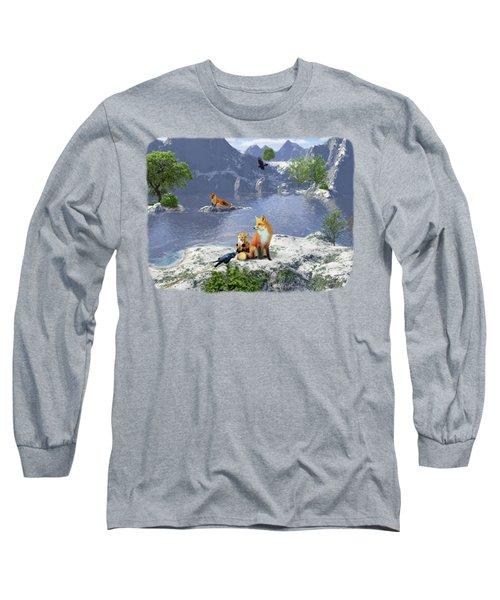 The Story Teller - Raven Tales Long Sleeve T-Shirt