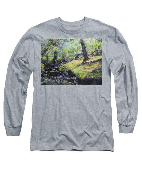The Stream At The Farm Long Sleeve T-Shirt