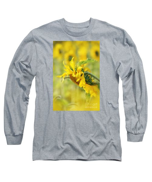 Long Sleeve T-Shirt featuring the photograph The Sunflower by Lila Fisher-Wenzel