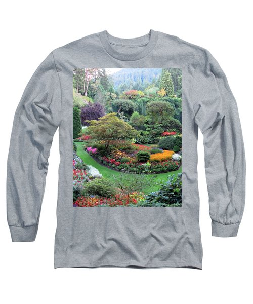 The Sunken Garden Long Sleeve T-Shirt by Betty Buller Whitehead