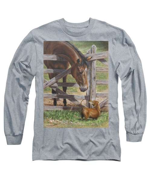 The Tall And Short Of It Long Sleeve T-Shirt by Kim Lockman
