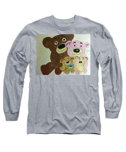 The Teddy Family  Long Sleeve T-Shirt