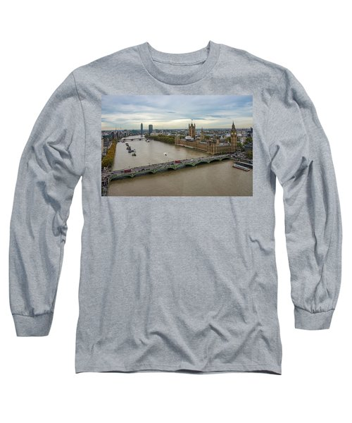The Thames At Sunset Long Sleeve T-Shirt