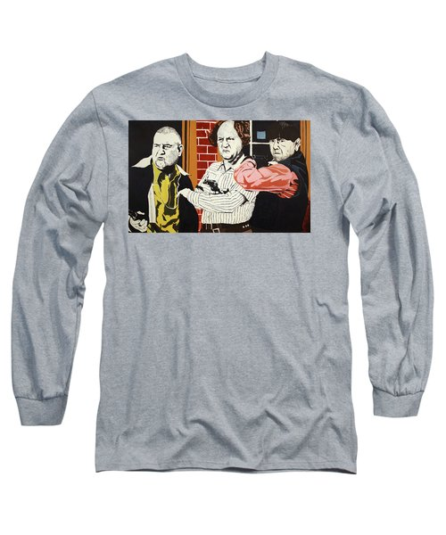 The Three Stooges Long Sleeve T-Shirt by Thomas Blood