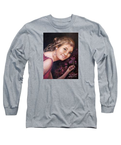 The Topaz Earring Long Sleeve T-Shirt by Patricia Schneider Mitchell